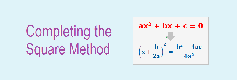 Completing the Square Method