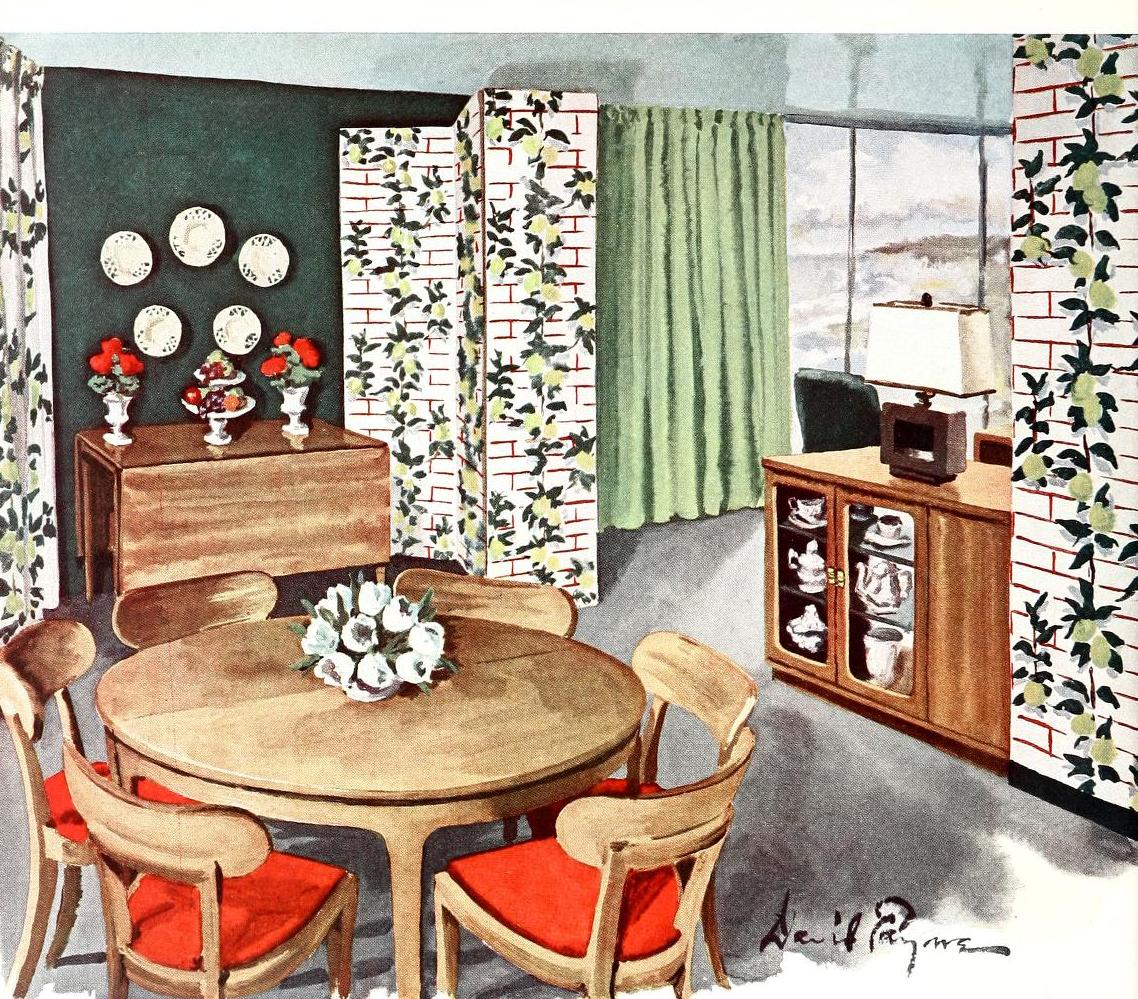 1940s Decor, Interior Decorating Styles And 1940s On Pinterest