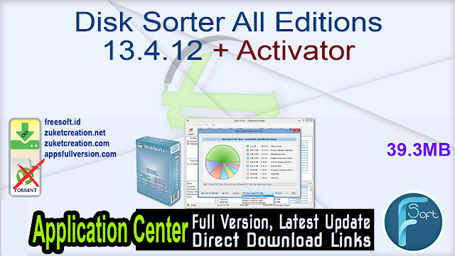 Disk Sorter All Editions 13.4.12 + Activator