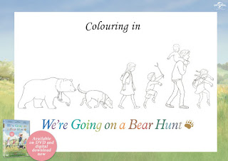 Picture book party fun stuff for Going on a bear hunt coloring pages