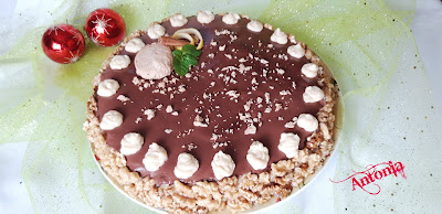 ↨↨ Tarta De Galletas Con Mantecados Y Nueces ↨↨