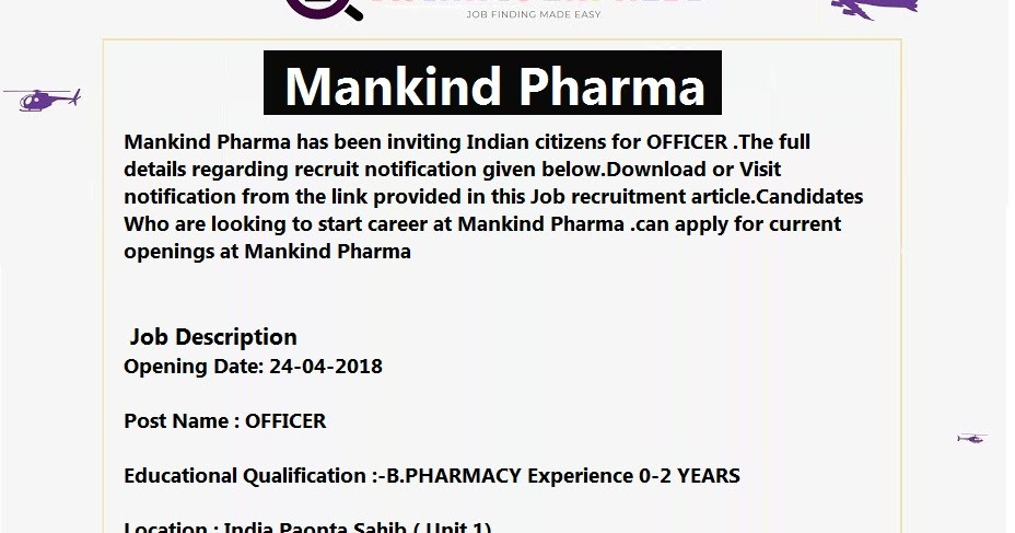 Mankind Pharma recruitment Apply online - VACANCY EXPRESS