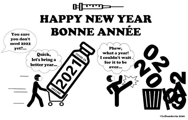 Happy New Year - Bonne Annee 2021 by ©Domelgabor / ©LeDomduVin 2020