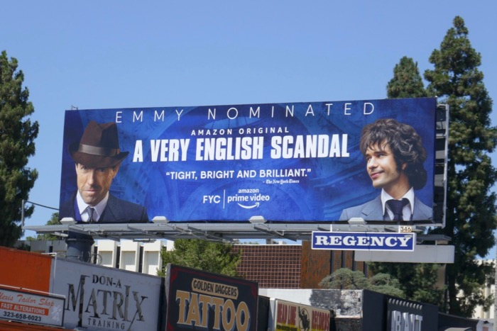A Very English Scandal Emmy nominated billboard