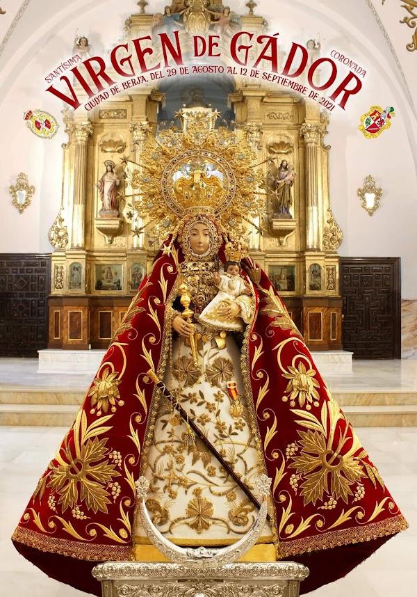 Cartel de Cultos en honor a la Virgen de Grado 2021, Patrona de Berjar