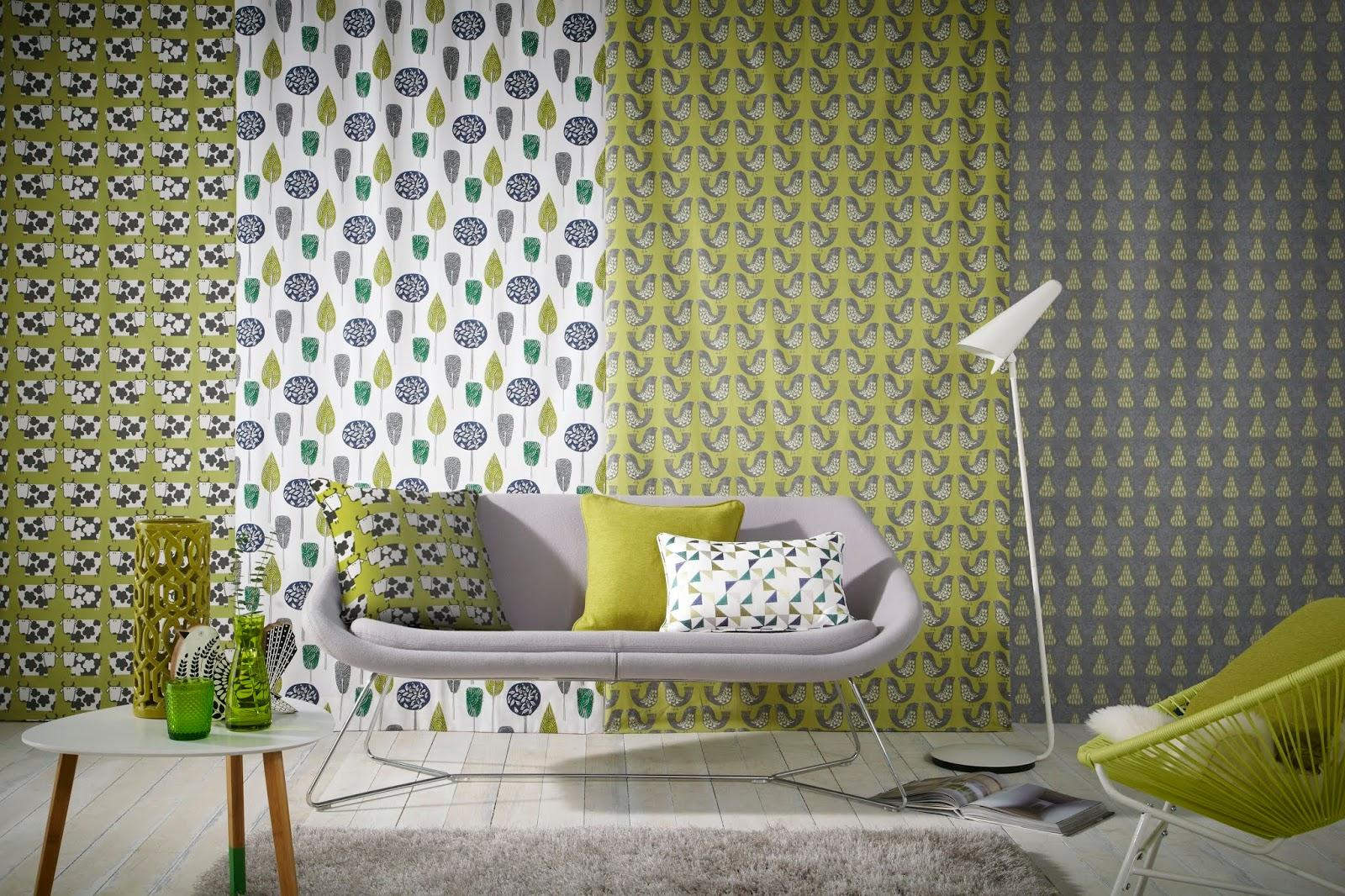 iLiv Scandi Spring Tangerine Curtain Craft Upholstery Designer Fabric