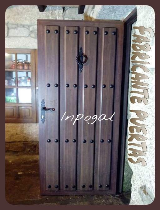 Puertas aluminio inpogal r sticas de lamas - Puerta de lamas ...