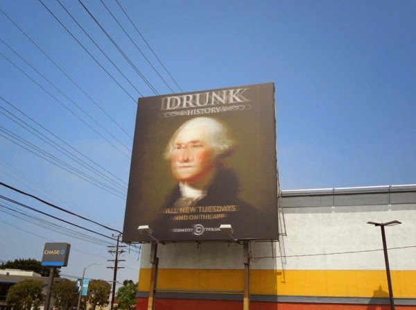 Drunk History season 2 Comedy Central billboard