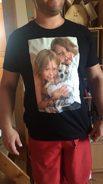test fête des pères personnalisés tee shirt