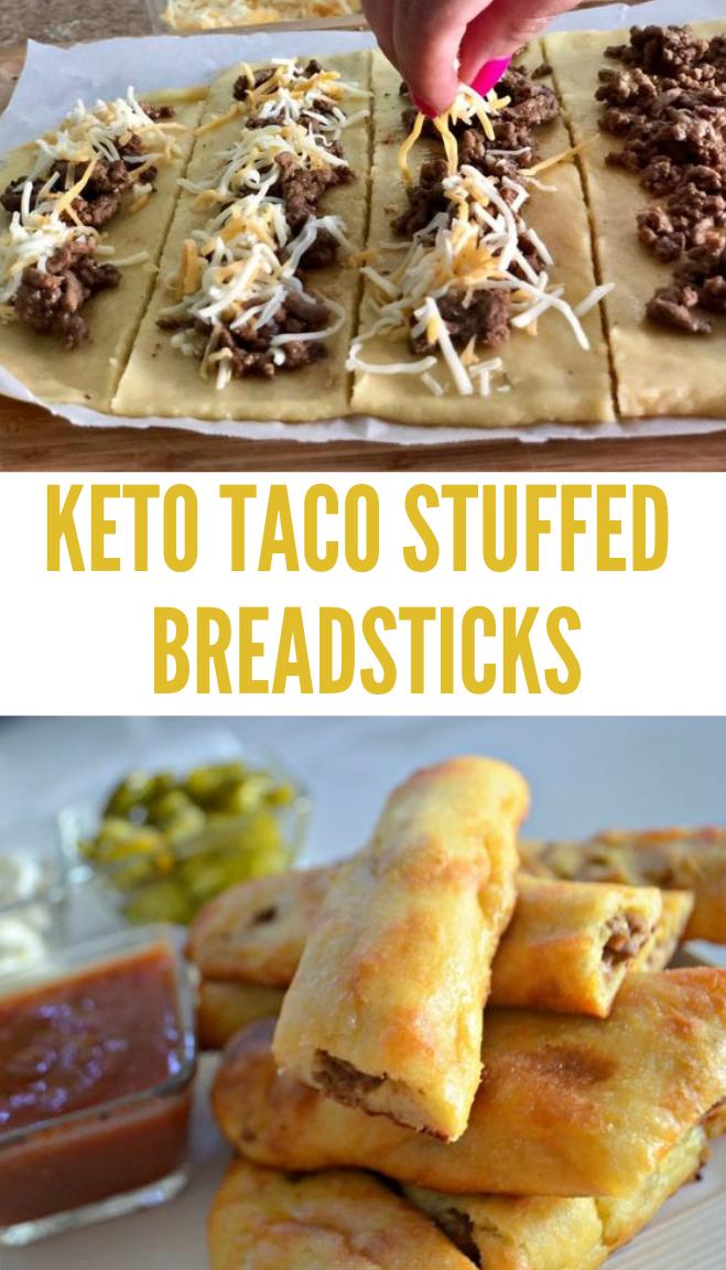 EASY KETO TACO STUFFED BREADSTICKS #keto #taco
