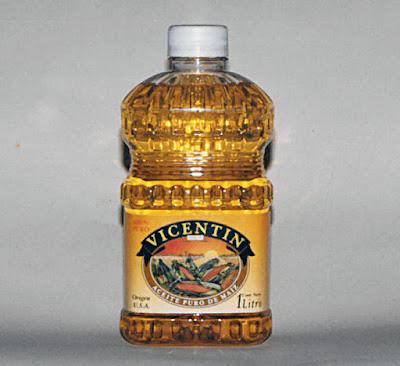 Diseño gráfico de etiqueta de aceite de maiz