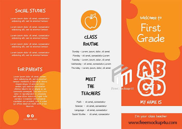 Kids School Brochure Design AI Template