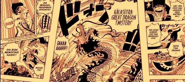 Zoro menyelamatkan luffy