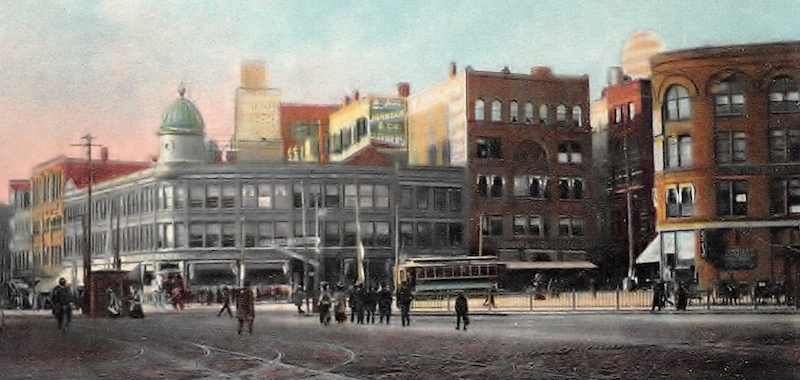 Central Square in Lynn, Massachusetts circa 1910