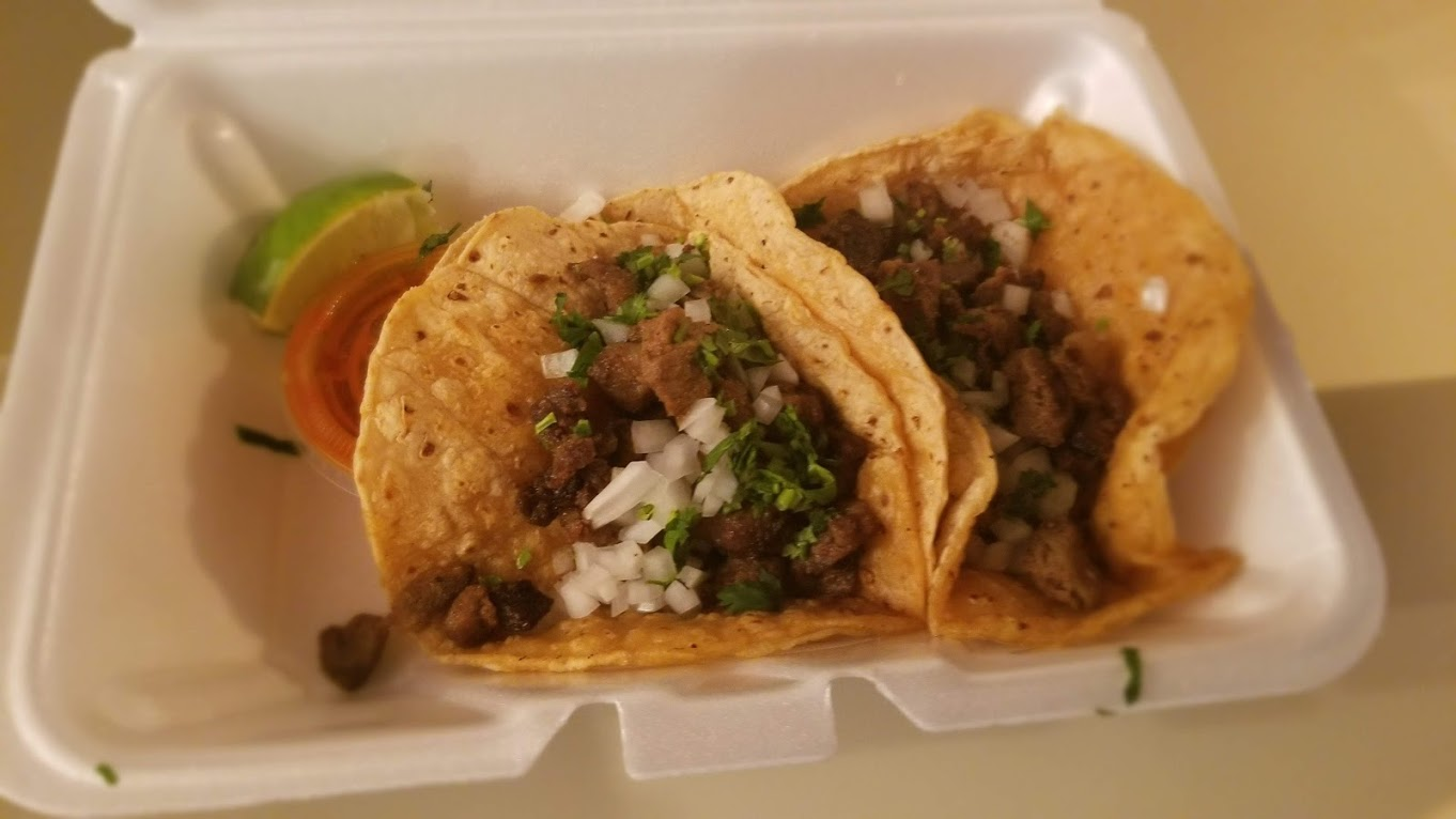 Steak tacos from El Guanaco, Troy