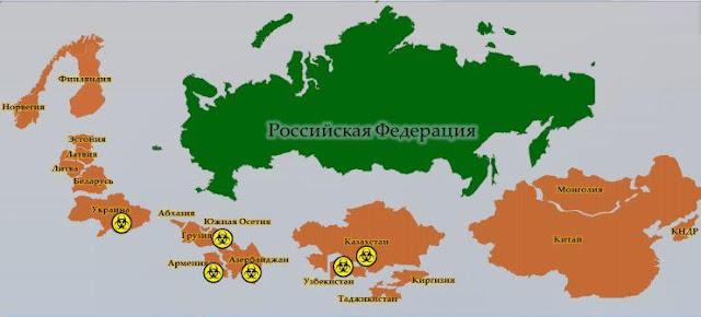 Grenzen Russland