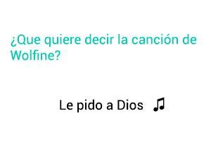 Significado de la canción Le Pido A Dios Wolfine.