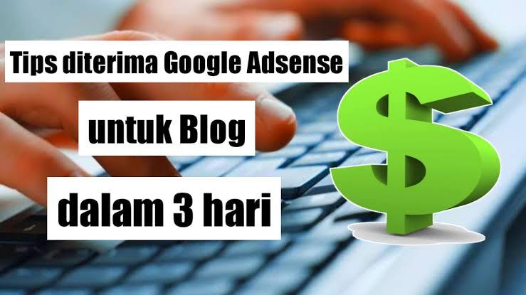 Cara Cepat Diterima Di Google Adsense