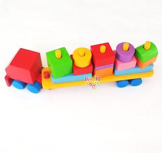 Balok Kontainer Mainan Kayuku Agdia Toys