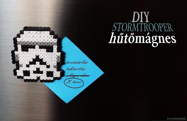 Csináld magad | Stormtrooper hűtőmágnes vasalható gyöngyökből - DIY Stormtrooper fridge magnet from meltable beads