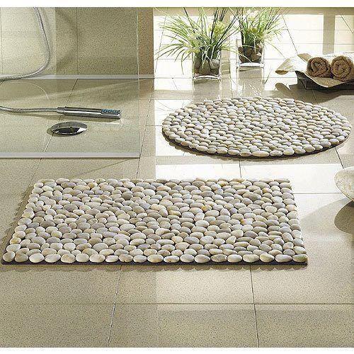 Alfombra baño piedras