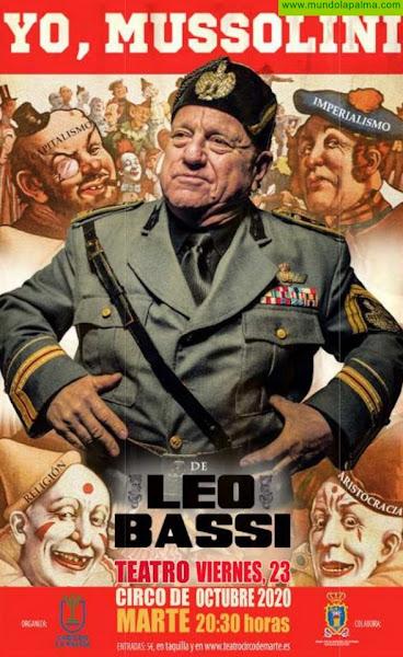 La provocación de Leo Bassi llega al Teatro Circo de Marte con su espectáculo 'Yo, Mussolini'