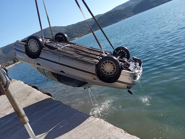 Δυτ. Ελλάδα: Από θαύμα σώθηκε 47χρονος που έπεσε στη θάλασσα με το αυτοκίνητο στον Αστακό- Ανασύρθηκε σήμερα το ΙΧ