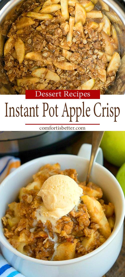 Delicious Instant Pot Apple Crisp Rcipe