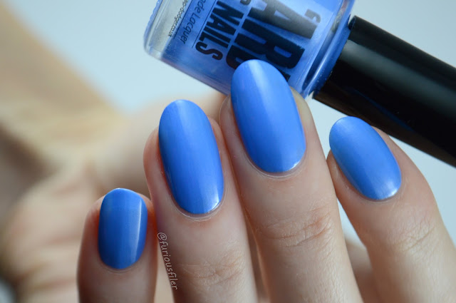 Ard as nails taking a dip swatch blue furious filer