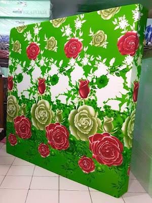 Kasur inoac motif bunga mawar ijo