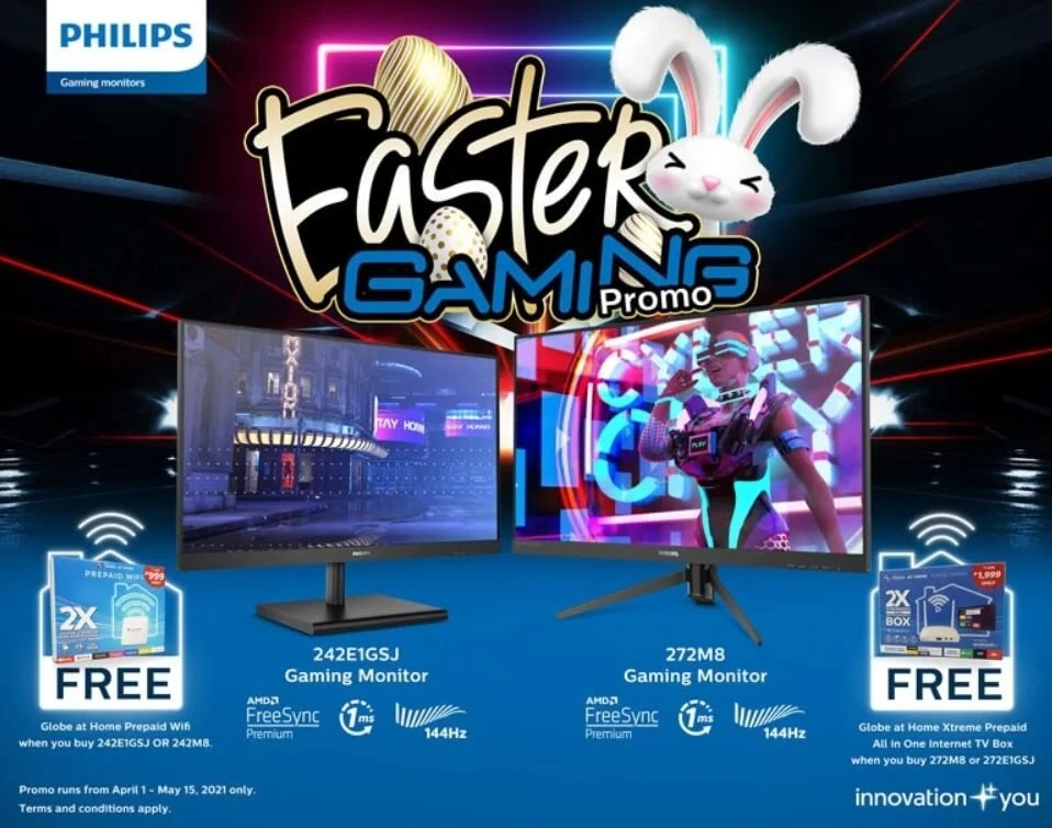Philips Gaming Monitors Joins Forces with Globe for an Easter Gaming Promotion