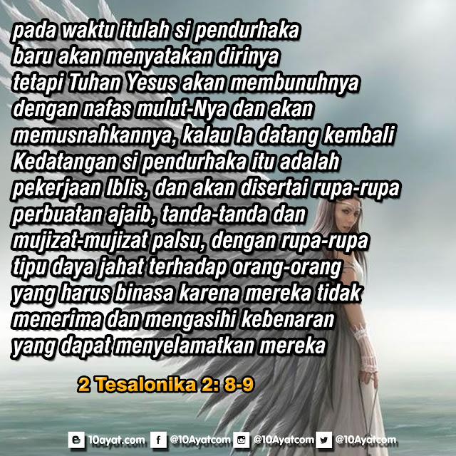 2 Tesalonika 2: 8-9