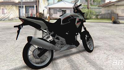 Download mod moto Honda CB 500 X para o jogo GTA San Andreas, GTA SA PC