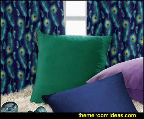 peacock colors Decorative Throw Pillow Covers peacock themed decorating ideas