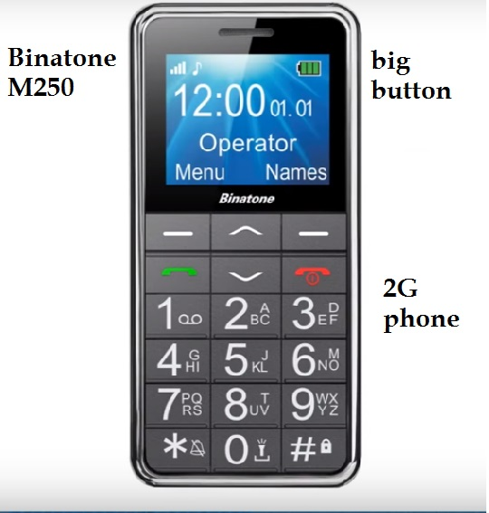 Need big button phone? Consider the Binatone M250 GSM