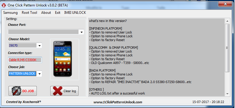 one click pattern unlock samsung v0.1