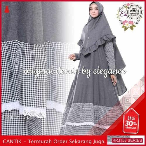 Jual RRJ158D269 Dress Muslim Supernova Wanita Frily Syari Darkgrey BMGShop