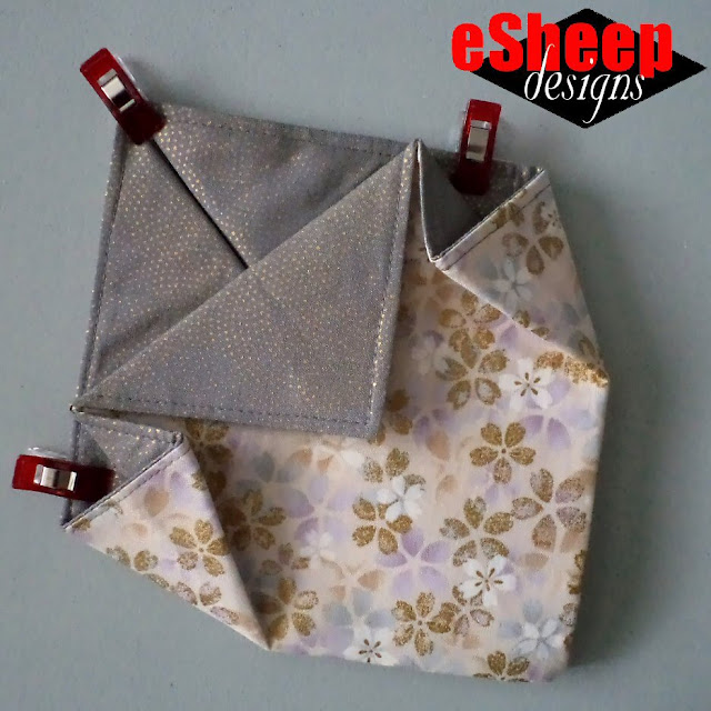 Fabric Origami Tray crafted by eSheep Designs