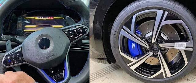 Volkswagen Golf R 2021 em fotos sem camuflagem