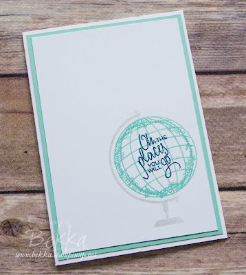 Make In A Moment - Places You'll Go Good Luck Card made with Stampin' Up! UK Supplies which you can buy here