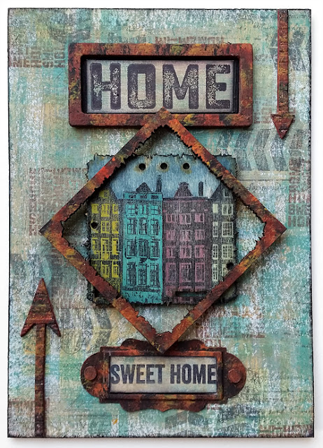 #4 - Windows, Doors and Architecture - PaperArtsy Stamps – HP1601EZ, Paints and Wood Chips - by Nikki Acton