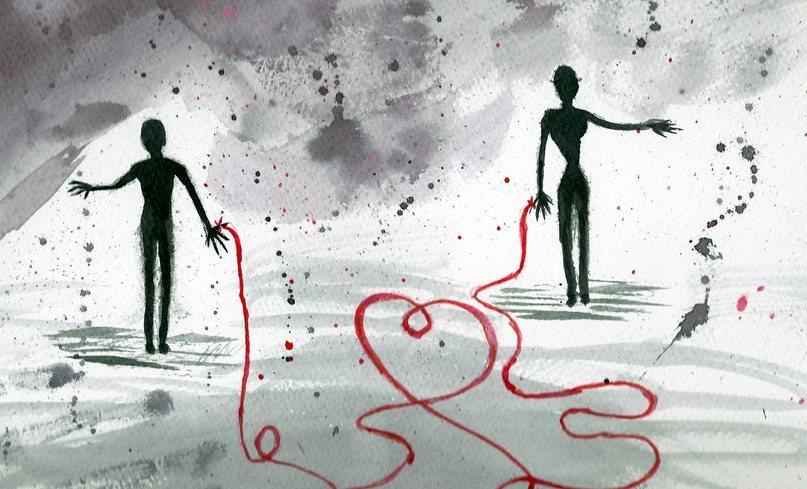 El hilo rojo que conecta dos vidas a estar unidas