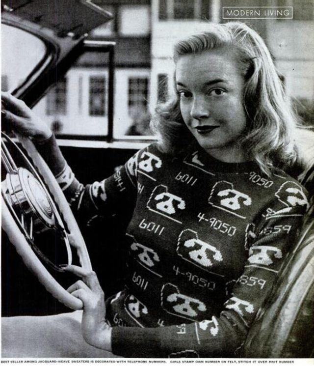Jacquard Novelty Sweaters, 1947
