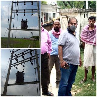 बिजली के लिए सिसकते इस गांव में अधिशासी अभियंता ने लगवा दी रौशनी की झड़ी    #NayaSaberaNetwork