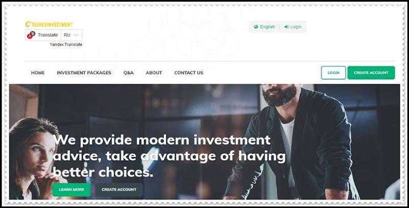 Мошеннический сайт olerex-investment.com – Отзывы, развод! Компания Olerex Investment мошенники