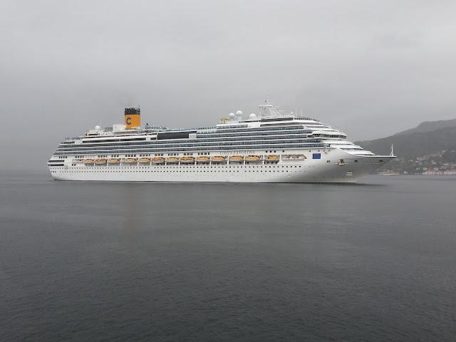 Cruise ships in Bergen, Norway
