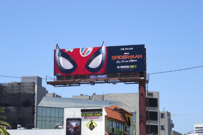 SpiderMan Far From Home extension billboard