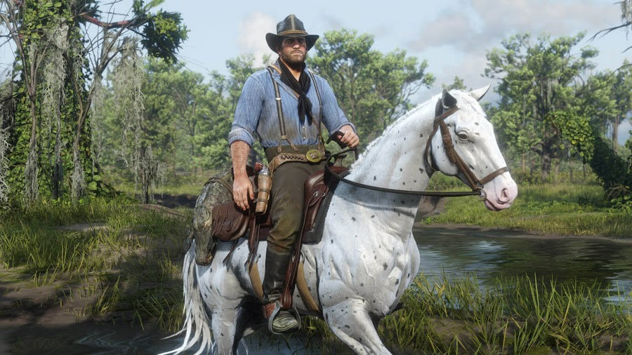 red dead redemption 2 pc arthur morgan wild horse variations few spot appaloosa rockstar games november 5