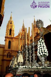 La Archicofradía de Pasión de Málaga procesionará desde la iglesia del Sagrado Corazón el próximo Lunes Santo