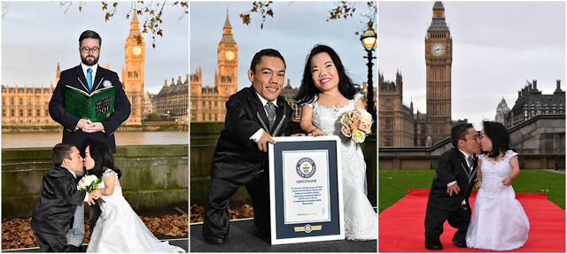 World's shortest couple officially crowned by Guinness World Records in London. (Photos)